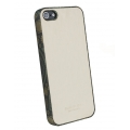 Busbuck Jester Genuine Leather Case for iPhone 5, 5S - White