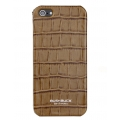 Busbuck Caiman Genuine Leather Case for iPhone 5, 5S - Khaki