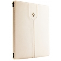 Ferrari Montecarlo Collection Case Book Type for iPad Mini - White (FEMTFCMPWH)