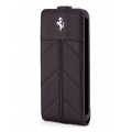 Ferrari Leather Hard Case with Flap California Full Black for iPhone 4, 4S (FECFFL4FB)