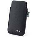 Mini Cooper Leather Pouch Type Black for iPhone 4, 4S (MNSLP4SQBL)