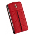 Ferrari Leather Hard Case with Flap California Red for iPhone 4, 4S (FECFFL4R)
