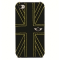Mini Cooper Leather Hard Case Union Jack Yellow for iPhone 4, 4S (MNHLP4UJYE)
