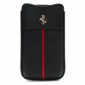 Ferrari Leather Sleeve Case California Black for iPhone 4, 4S (FECFSLMB)