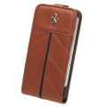 Ferrari Leather Hard Case with Flap California Camel for iPhone 4, 4S (FECFFL4KA)