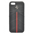 Ferrari Leather Hard Case California Collection for iPhone 5, 5S, Black (FECFIP5B)