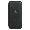 Ferrari Grain Leather Case Book Type for iPhone 5 - Black (FEFFFLBKP5BL)