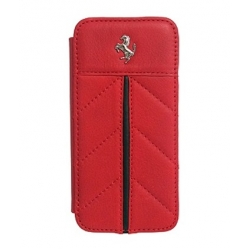 Ferrari California Collection, Book Type Case for iPhone 5, 5S - Red (FECFFLBKP5RE)