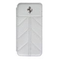 Ferrari California Collection, Book Type Case for iPhone 5, 5S - White (FECFFLBKP5FW)