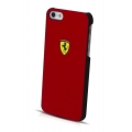 Ferrari Leather Hard Case Scuderia for iPhone 5, 5S - Red (FESCHCP5RE)
