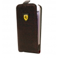 Ferrari Challenge Flip Type for iPhone 5, 5S - Full Perforated Black (FECHFPFLP5)