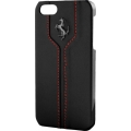 Ferrari Montecarlo Collection Leather Hard Case for iPhone 5, 5S - Black (FEMTHCP5BL)