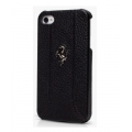 Ferrari Leather Hard Case FF Collection for iPhone 5, 5S, Black (FEFFHCP5BL)