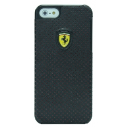Ferrari Hard Case Challenge Perforated Collection Black for iPhone 5, 5S (FECHFPHCP5)