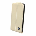 BMW Leather Flap Case Cream for iPhone 5, 5S (BMFLP5LC)