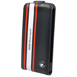 BMW Flap Case Shiny Finish Navy for iPhone 5, 5S (BMFLP5SN)