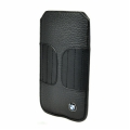 BMW Leather Sleeve Case Kidney Shape Black for iPhone 5, 5S (BMPOP5LK)