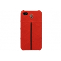 Ferrari Leather Hard Case California Collection for iPhone 5, 5S - Red (FECFIP5R)