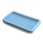 iPhone 3G/3GS Hybrid Tough Mix&Match Cases (CM010304) Lite Blue/Gray