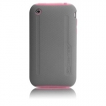 iPhone 3G/3GS Hybrid Tough Mix&Match Cases (CM010306) Pink/Gray