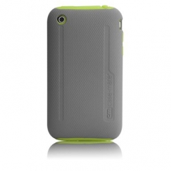 iPhone 3G/3GS Hybrid Tough Mix&Match Cases (CM010308) Neon Green/Gray