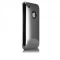 iPhone 3G/3GS Barely There Glossy Cases Metallic Silver (IPH3GBT-MSLV)