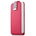 Capdase Folder Case Upper Polka for iPhone 4, 4S - Red (FCIH4S-UP9G)