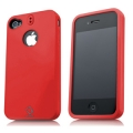 Capdase Polimor Protective Case Jacket Red/Red for iPhone 4, 4S (PMIH4S-5199)
