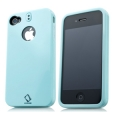 Capdase Polimor Protective Case Jacket Ice Blue/Ice Blue for iPhone 4, 4S (PMIH4S-51CC)