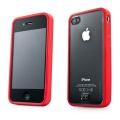Capdase Soft Jacket Case Fuze Clear/Solid Red for iPhone 4, 4S (SJIH4S-3FY9)