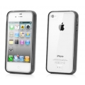 Capdase Soft Jacket Case Fuze DS Clear/Tinted Black for iPhone 4, 4S (SJIH4S-3F01)