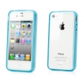 Capdase Soft Jacket Case Fuze DS Clear/Tinted Blue for iPhone 4, 4S (SJIH4S-3F03)