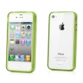 Capdase Soft Jacket Case Fuze DS Clear/Tinted Green for iPhone 4, 4S (SJIH4S-3F06)