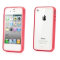 Capdase Soft Jacket Case Fuze DS Clear/Tinted Red for iPhone 4, 4S (SJIH4S-3F09)