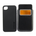 Capdase Smart Pocket Case ID Value Set Solid Black/Black for iPhone 4, 4S (DPIH4S-V511)