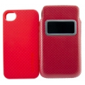 Capdase Smart Pocket Case ID Value Set Solid Red/Red for iPhone 4, 4S (DPIH4S-V599)