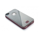 Alumor Metal Case MTIH4-3115 Purple Gun for iPhone 4