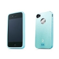Alumor Metal Case MTIH4-51CC Light Blue/Light Blue for iPhone 4