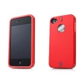 Capdase Polimor Protective Case Polishe Red/Red for iPhone 4, 4S (PMIH4-5199)