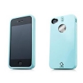 Capdase Polimor Protective Case Polishe Ice Blue/Ice Blue for iPhone 4, 4S (PMIH4-51CC)