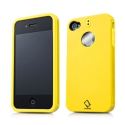 Capdase Polimor Protective Case Polishe Yellow/Yellow for iPhone 4, 4S (PMIH4-51EE)