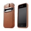 Capdase Smart Pocket Value Set Brown for iPhone 4 (SLIH4-V188)