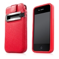 Capdase Smart Pocket Value Set Red for iPhone 4 (SLIH4-V199)