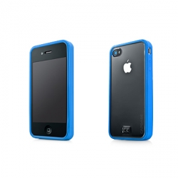 Capdase Soft Jacket Fuze Clear/Blue for iPhone 4 (SJIH4-3FY3)