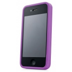 Capdase Soft Jacket Fuze Clear/Purple for iPhone 4 (SJIH4-3FY5)