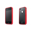 Capdase Soft Jacket Fuze Clear/Red for iPhone 4 (SJIH4-3FY9)