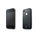 Capdase Soft Jacket Fuze Clear/Black for iPhone 4 (SJIH4-3FY1)