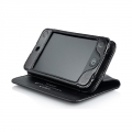 Capdase Leather Case Bi-fold Black for iPod Touch 4G (WCIPT4-5001)