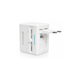 Capdase Power Travel Adapter BlockOne White for iPad, iPhone, iPod, Mobile (ADCB-T002)