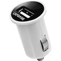 Capdase 2.4A USB Car Charger&Cable PicoPlus K1 Lightning - White (TKCB-PK02)